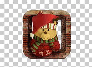 Bear Christmas Santa Claus Gift PNG