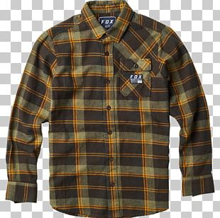 T-shirt Tartan Flannel Fox Racing PNG