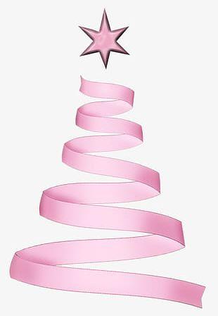 Pink Ribbon Christmas Tree PNG