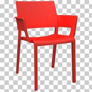 Table Chair Plastic Armrest Line PNG
