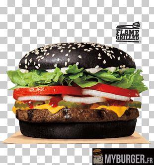 Whopper Hamburger Black Bun Fast Food Burger King PNG