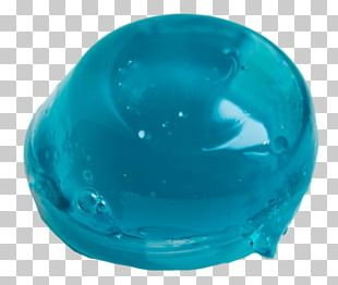 Aesthetics Slime Blue PNG