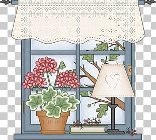 Vintage Clothing Window Floral Design Decoupage PNG
