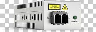 Fiber Media Converter Multi-mode Optical Fiber Gigabit Ethernet Allied Telesis PNG