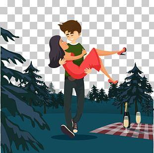 Romance Animation Couple PNG
