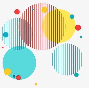 Color Circle Decorative Pattern PNG