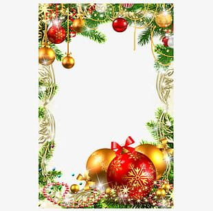 Christmas Ornament Square Frame PNG