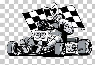Kart Racing Racing Flags Auto Racing PNG