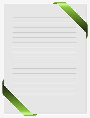 Green Edge Stationery PNG