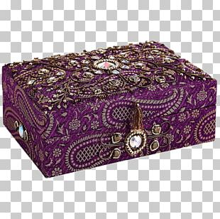 Embroidered Jewelry Box PNG