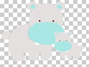 Hippopotamus Pig Baby Shower Animal PNG