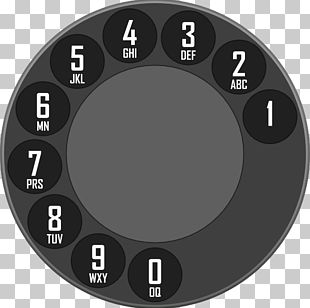 Rotary Dial Dialer Telephone Call PNG