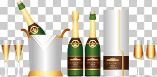 Champagne Wine Bottle PNG