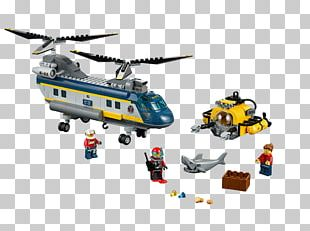 LEGO 60093 Deep Sea Helicopter Lego City Toy The Lego Group PNG