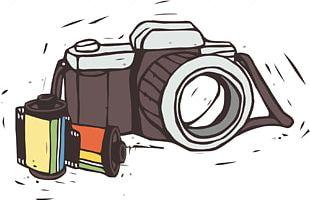 Reflex Camera Drawing Photography PNG