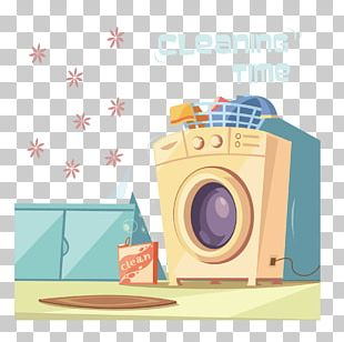 Washing Machine Laundry Towel Illustration PNG