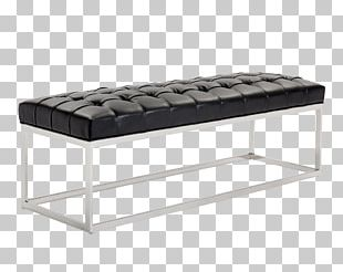 Upholstery Bonded Leather Bench Foot Rests PNG