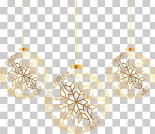 Golden Christmas Ball PNG