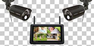 Closed-circuit Television Wireless Security Camera Surveillance Uniden UDR744 Outdoor Cameras With 7-Inch LCD Touchscreen (Black) PNG