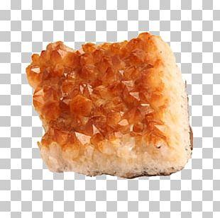 Mineral Citrine Crystal Cluster Quartz PNG