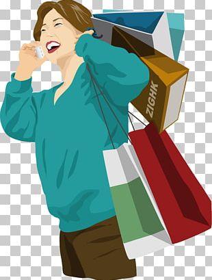Shopping Bag Illustration PNG