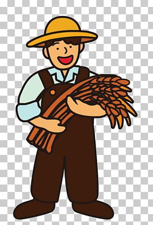 Cartoon Farmer Rice PNG