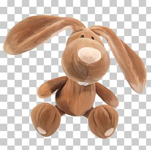 Stuffed Animals & Cuddly Toys Rabbit Watercolor Painting PNG