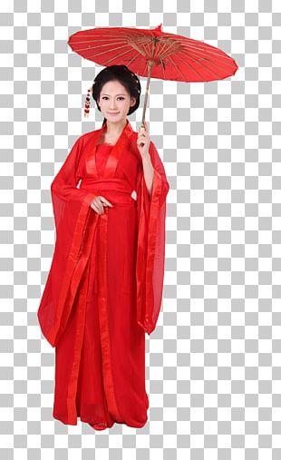 Oil-paper Umbrella Woman Clothing PNG