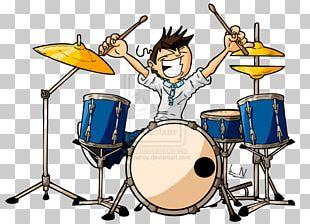 Animal Drums Drummer Cartoon PNG