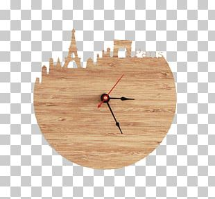 Eiffel Tower Table Clock Living Room PNG