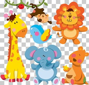 Giraffe Cartoon Animal Illustration PNG