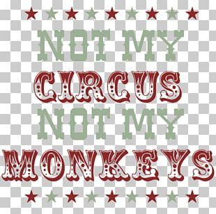 Circus Monkey Christmas Tree PNG