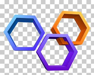 Hexagon Three-dimensional Space Honeycomb Illustration PNG