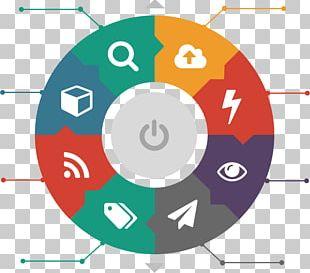Circle Graphic Design Digital Marketing Business PNG