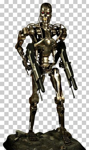 The Terminator Endoskeleton YouTube Bronze Sculpture PNG