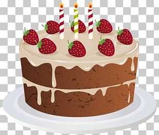 Mousse Birthday Cake Streusel PNG