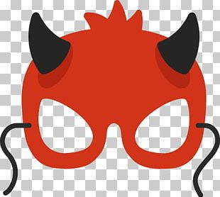 Mask Euclidean Red PNG