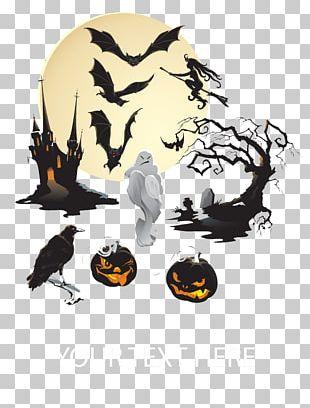 Bat Halloween Jack-o'-lantern PNG