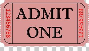 Ticket Stock Photography Admit One PNG