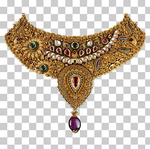 Necklace Earring Jewellery Gold PNG
