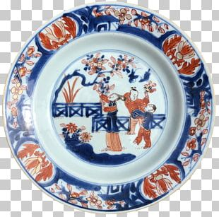 Plate Imari Ware Blue And White Pottery Ceramic Porcelain PNG