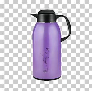 Water Bottle Vacuum Flask Kettle Purple PNG
