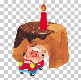 Birthday Cake Watercolor Painting Illustration PNG