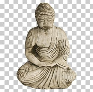 Standing Buddha Seated Buddha From Gandhara Statue Classical Sculpture PNG