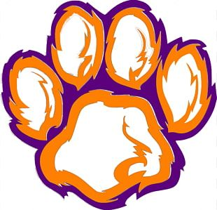 Clemson Tigers Football Clemson University Paw PNG