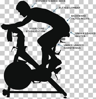 Indoor Cycling Exercise Bikes Silhouette PNG