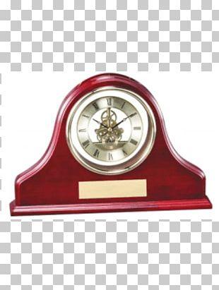 Mantel Clock Table Wood Trophées Et Gravures Expert Inc. PNG