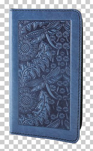 Wallet Electric Blue Leather Sky Blue PNG