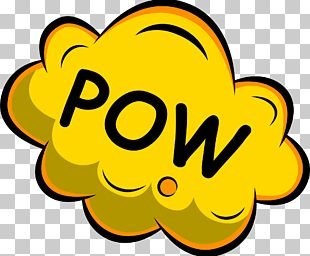Yellow Pow Clouds PNG