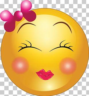 Smiley Emoticon Girl PNG